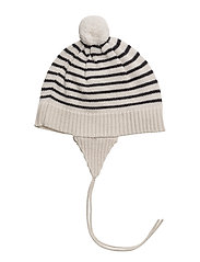Baby Striped Hat - ECRU/NAVY