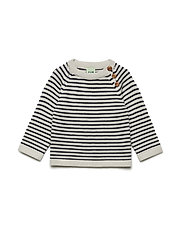 Baby Sweater - ECRU/NAVY