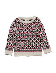 Baby Nordic Sweater - ECRU/RED/NAVY