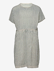 FUB - Checked  Dress - jurken - ecru/dusty blue - 0