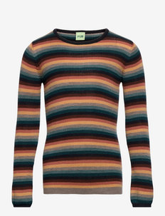 Rib Blouse - pullover - multi stripe