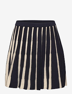 Pleated Skirt - jurken & rokjes - dark navy/ecru