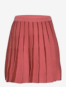 Pleated Skirt - jurken & rokjes - raspberry/brick