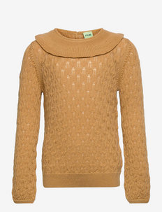Pointelle Blouse - trøjer - honey
