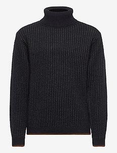 Structure Sweater - dzianinowe - dark navy