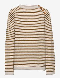 Sweater - ECRU/SIENNA