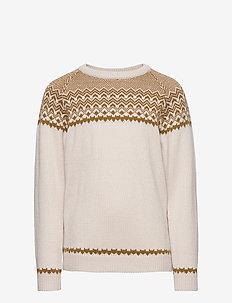 Nordic Sweater - ECRU/SIENNA