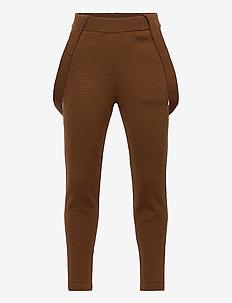 Pants - spodnie - umber