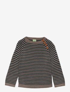 Sweater - trøjer - beige melange/teal
