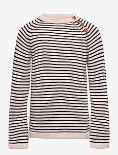 Sweater - pulls - ecru/dark navy