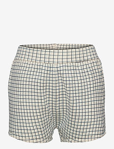 Checked Shorts - shorts - ecru/dusty blue