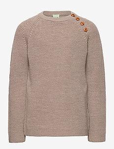 Rib sweater - sweatshirts - beige melange