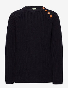 Rib sweater - sweatshirts - dark navy