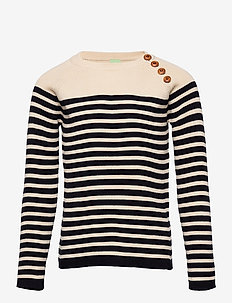 Sweater - gebreid - ecru/dark navy