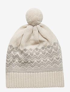 Pompom Hat - ECRU/LIGHT GREY
