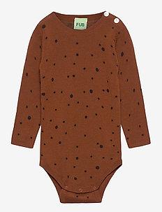 Baby Dot Body - langärmelig - umber/dark navy
