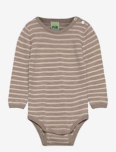 Baby Body - długie rękawy - beige melange/ecru