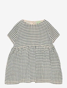 Baby Checked Dress - robes - ecru/dusty blue