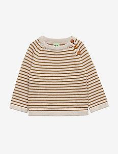 Baby Sweater - ECRU/SIENNA