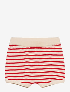 Baby Striped Bloomers - shorts - ecru/bright red