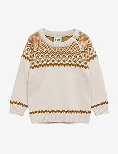 Baby Nordic Sweater - ECRU/SIENNA