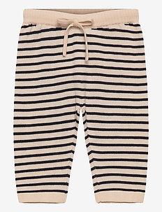 Baby Loose Pants - sweatpants - ecru/dark navy