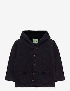 Baby felted jacket - wełna - dark navy