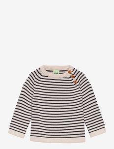 Baby Sweater - trøjer - ecru/dark navy