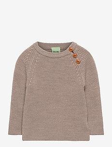 Baby rib sweater - strikkevarer - beige melange