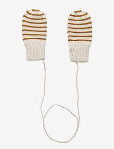 Baby Mittens - rękawiczki - ecru/sienna