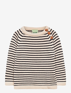 Baby sweater - dzianinowe - ecru/dark navy