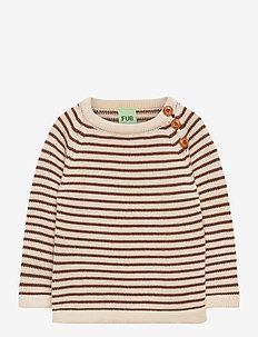 Baby sweater - dzianinowe - ecru/umber