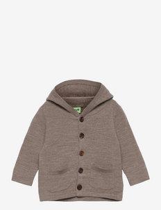 Baby Felted Jacket - gilets - beige melange