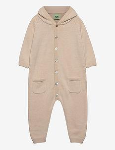 Baby suit - ull-klær - ecru