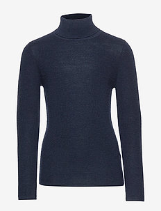 Rollneck Blouse - NAVY