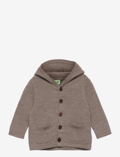 Baby Felted Jacket - kapuzenpullover - beige melange