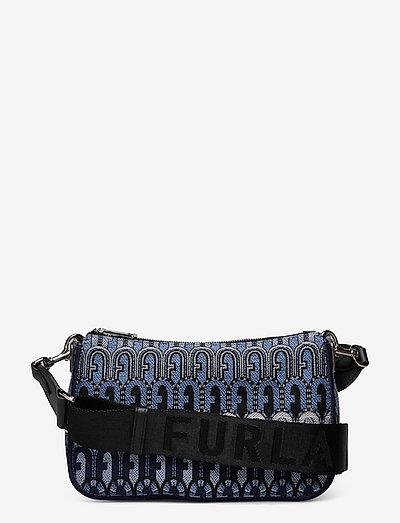 FURLA MOON - väskor - toni blu denim+nero