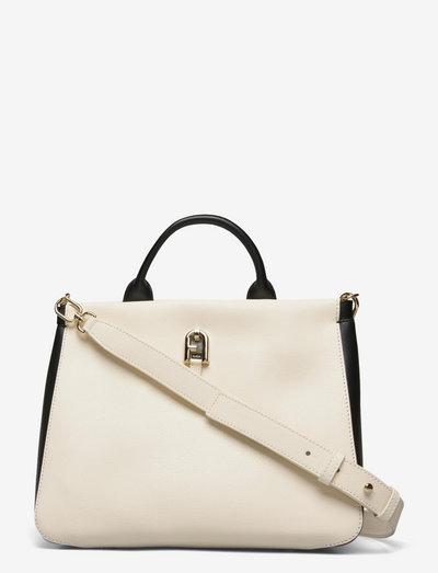 FURLA PALAZZO - väskor - white cotton+nero