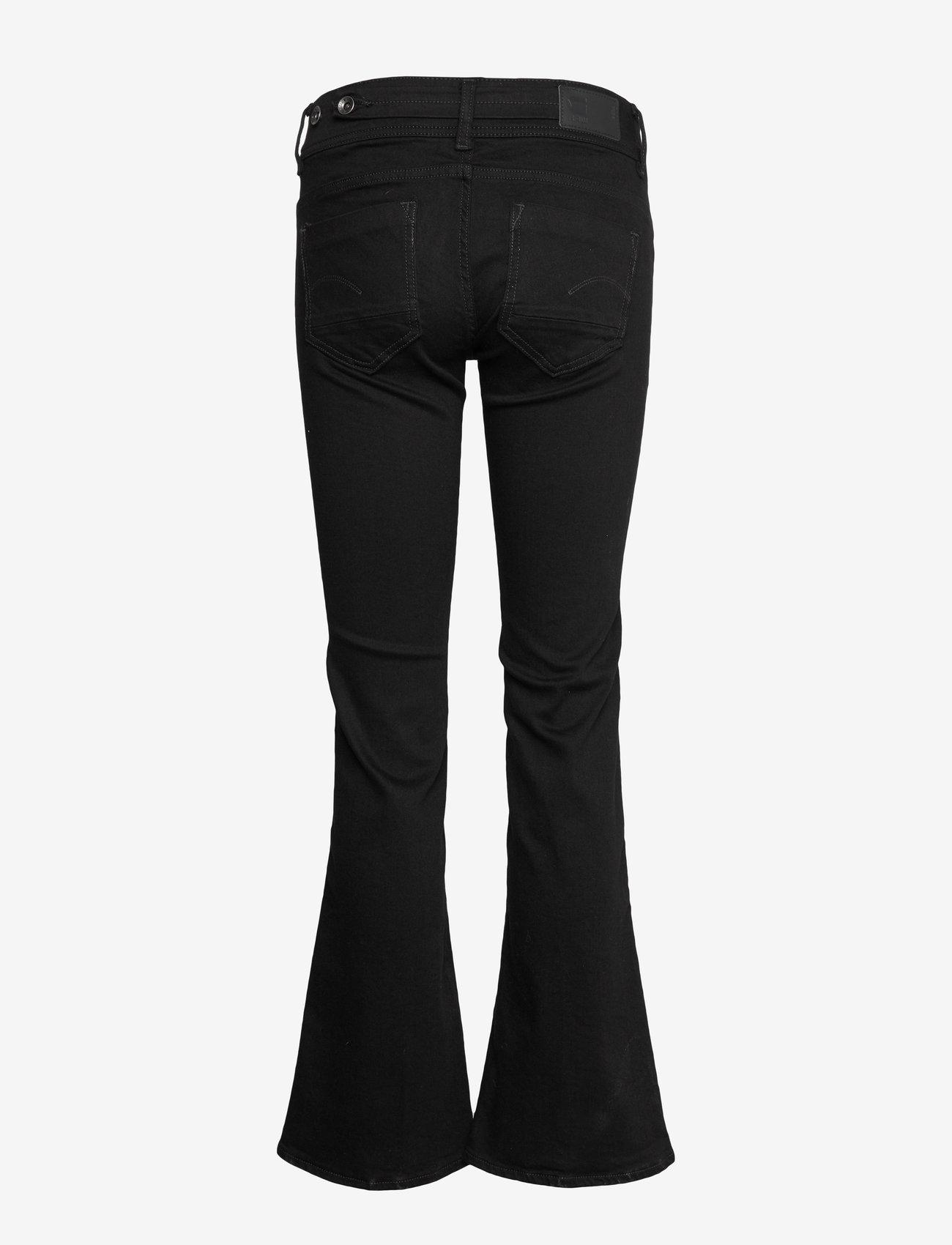 G-star RAW - Midge Mid Bootcut Wmn - bootcut jeans - pitch black - 1