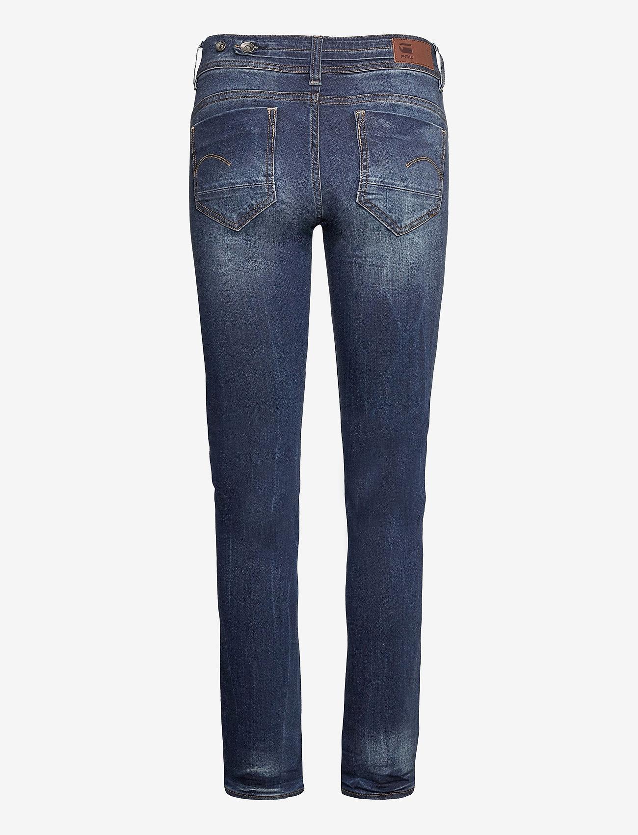 G-star RAW - Midge Mid Straight Wmn - straight jeans - dk aged - 1