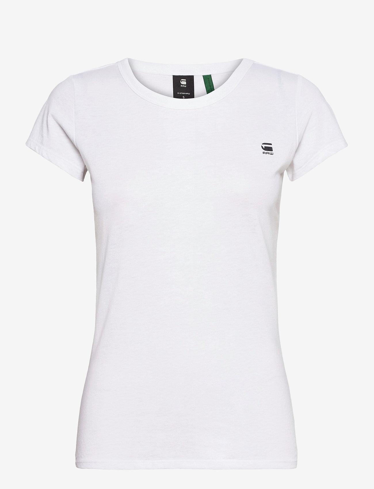 G-star RAW - Eyben slim r t wmn s\s - t-shirts - white - 0