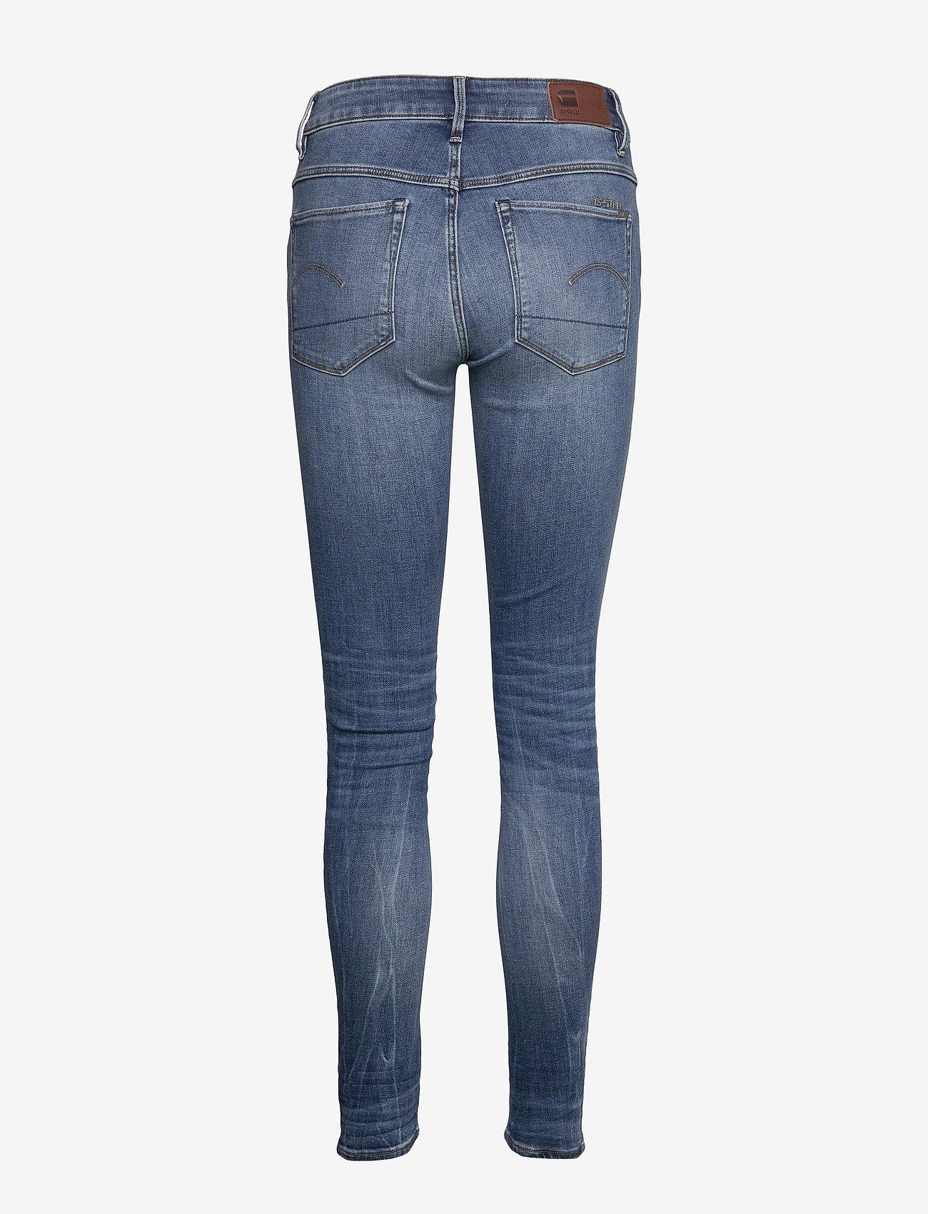 G-star RAW - 3301 High Skinny Wmn - skinny jeans - medium indigo aged - 1