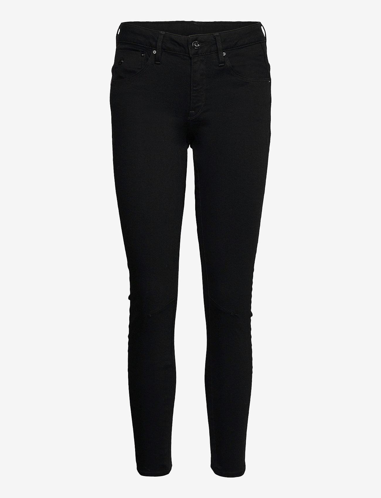G-star RAW - Arc 3D Mid Skinny Wmn - skinny jeans - pitch black - 0