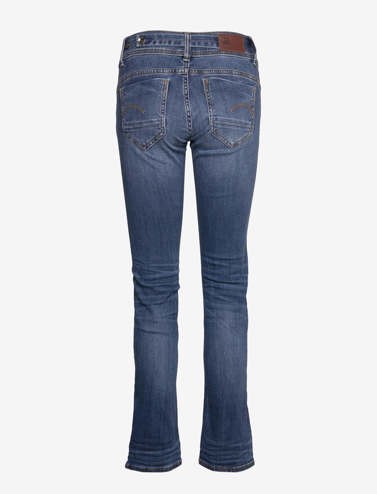 G-star RAW - Midge Mid Straight Wmn - straight jeans - medium indigo aged - 1