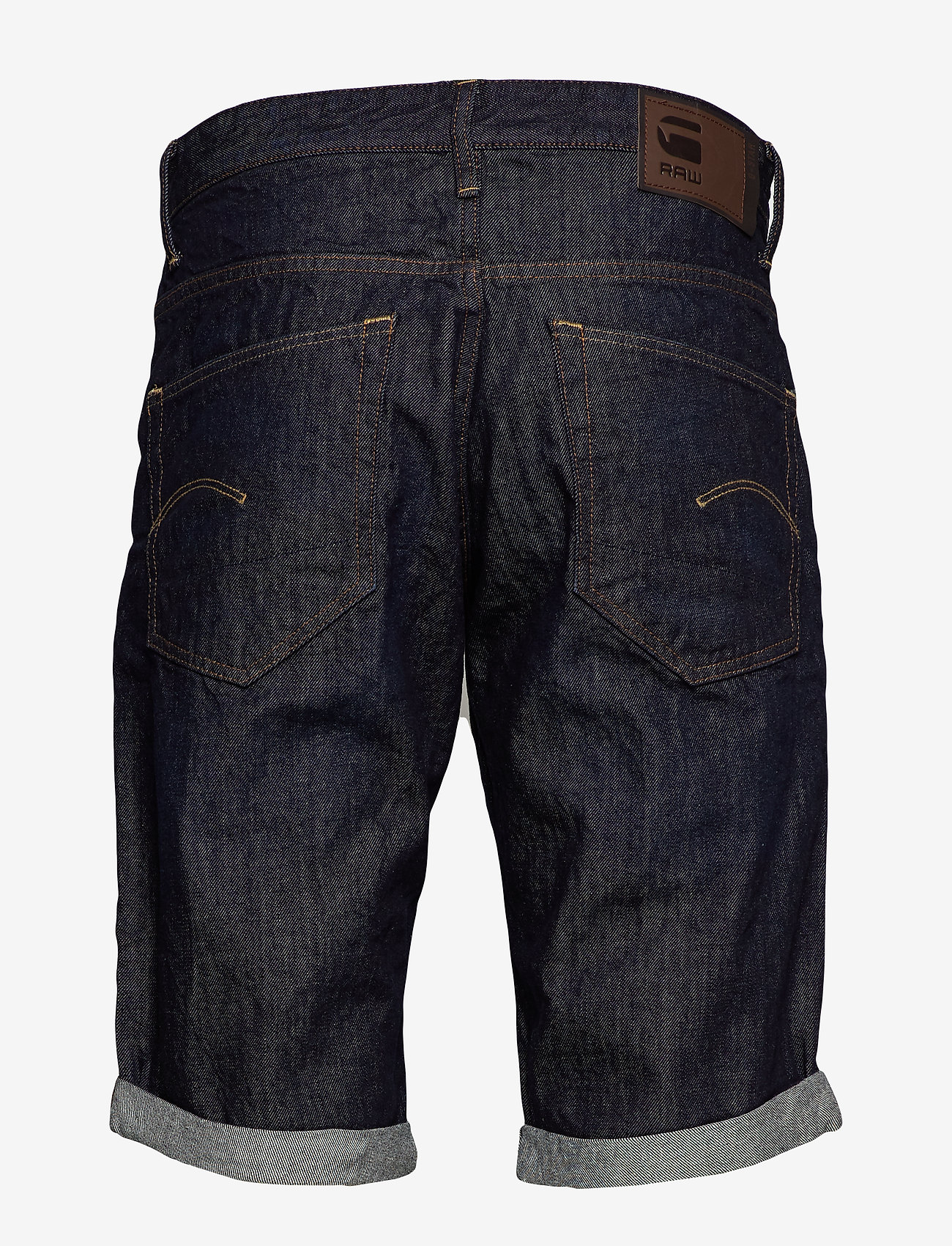 G-star RAW - 3301 1\2 - farkkushortsit - 3d raw denim processed - 1