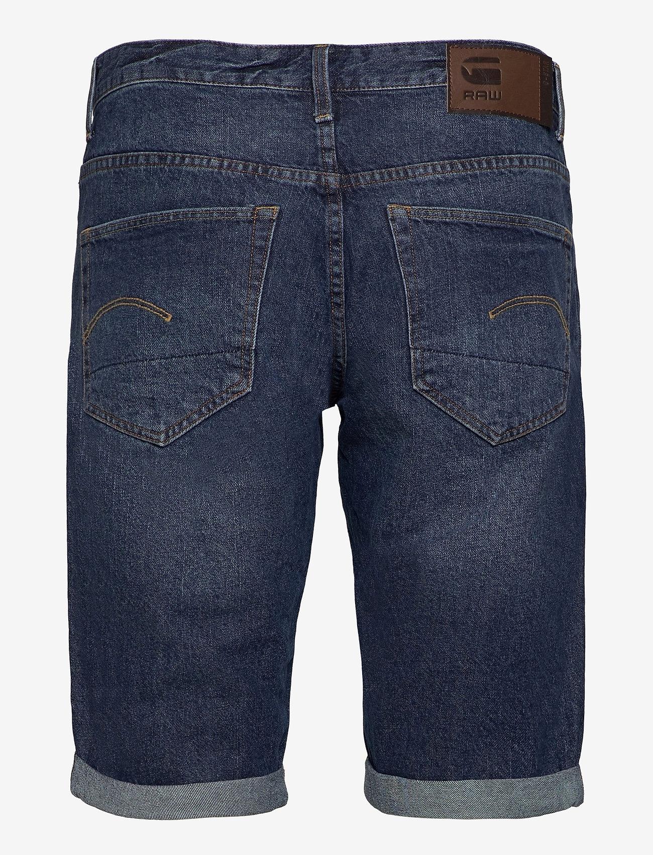 G-star RAW - 3301 1\2 - denim shorts - worn in blue stone - 1