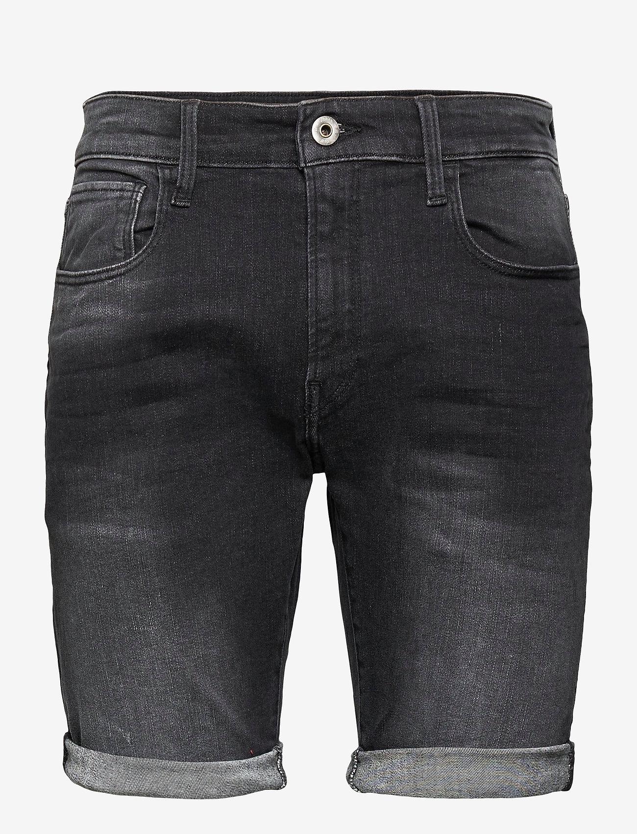 G-star RAW - 3301 Slim short - denim shorts - medium aged grey - 0