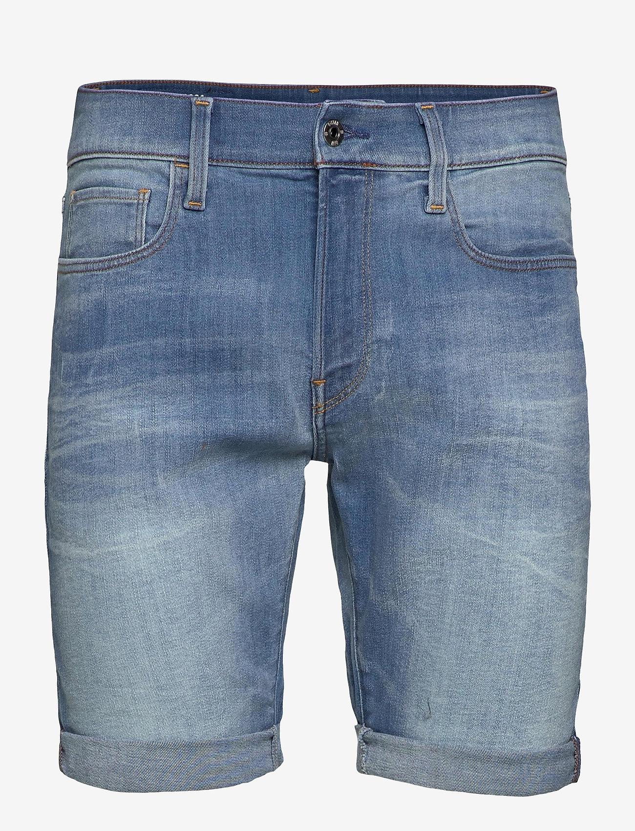G-star RAW - 3301 Slim short - denim shorts - vintage striking blue - 0