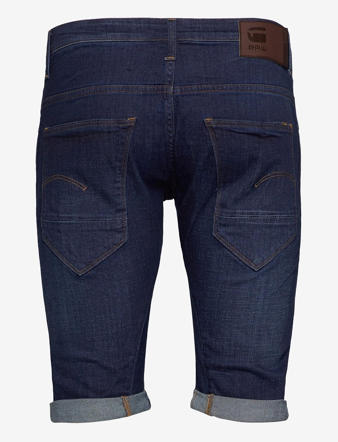 G-star RAW - Arc 3D 1\2 custom - denim shorts - dk aged - 1