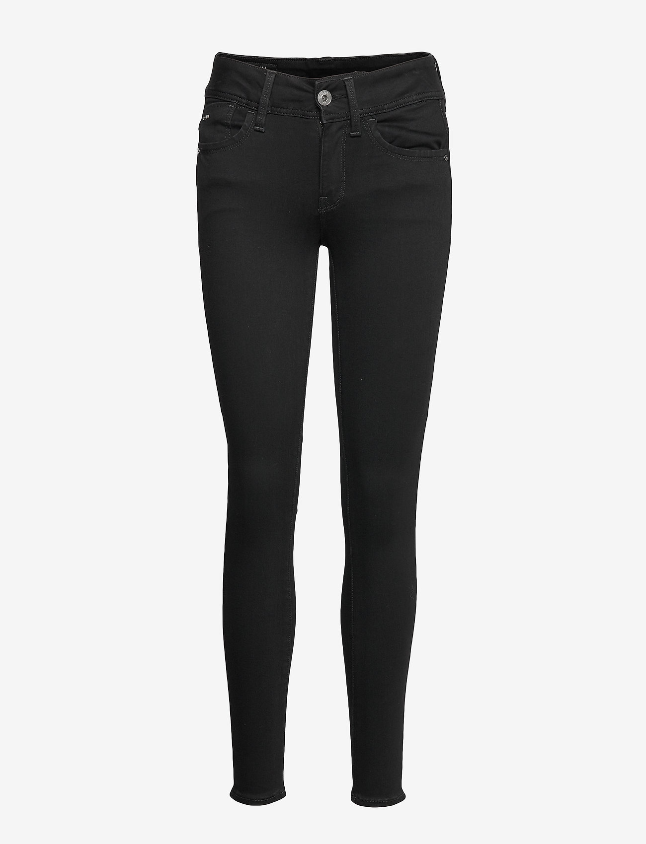 G-star RAW - Lynn Mid Super Skinny Wmn - skinny jeans - pitch black - 0
